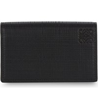 Loewe Textured Leather Business Card Holder Black