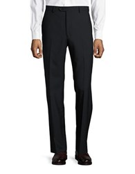 Lauren Ralph Lauren Wool Blend Flat Front Pants Black