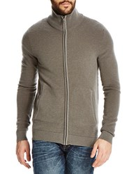 Bench Kink Funnel Neck Wool Blend Sweater Smoked Pearl