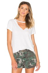Pam And Gela Open Chest Tee White
