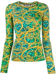 Versace Jeans Couture Leo Chain Print Long Sleeved T Shirt 60