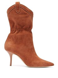 Malone Souliers Daisy Suede Ankle Boots Tan