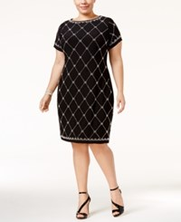 Betsy And Adam Plus Size Embellished Sheath Dress Black