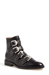 Givenchy Buckle Bootie Women Black Leather