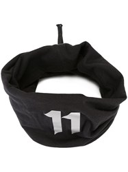 11 By Boris Bidjan Saberi Embroidered Asymmetric Scarf Black