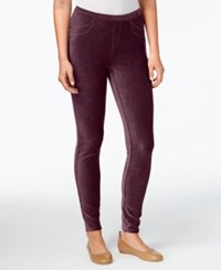 Style And Co Petite Corduroy Leggings Created For Macy's Scarlet Wine