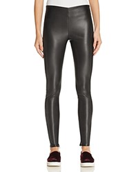 Velvet By Graham And Spencer Faux Leather Leggings Black