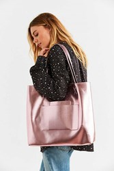 Urban Outfitters Double Pocket Tote Bag Blush
