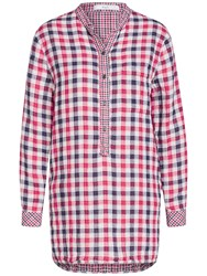 Oui Check Shirt Dark Blue Red