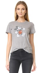 David Lerner Mickey Tee Light Heather Grey