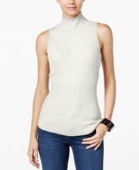 Inc International Concepts Ribbed Mock Neck Sweater Only At Macy's Washed White