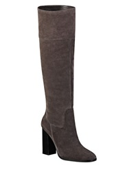 Marc Fisher Ltd Netty Knee High Suede Boots Grey