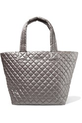 M Z Wallace Mz Metro Medium Quilted Shell Tote Silver