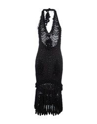 John Galliano Dresses Knee Length Dresses Women Black