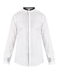 Dolce And Gabbana Mandarin Collar Cotton Shirt White