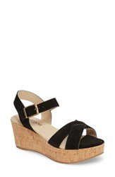 Cordani Candy Wedge Sandal Black Suede