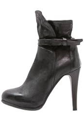 A.S.98 High Heeled Ankle Boots Nero Black