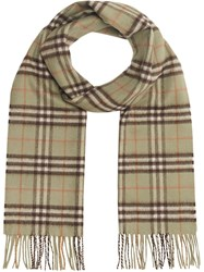 Burberry Check Cashmere Scarf Green