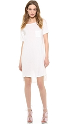 Alexander Wang Classic Boat Neck Dress With Pocket White