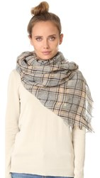 Madewell Autumn Plaid Scarf Lavender Pink Plaid