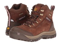 Caterpillar Ally 6 Waterproof Brown Women's Work Lace Up Boots