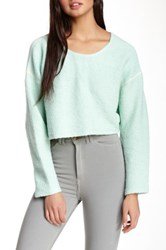 American Apparel Easy Cropped Sweater Green