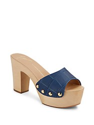 Giuseppe Zanotti Wooden Clog Slide Sandals Denim