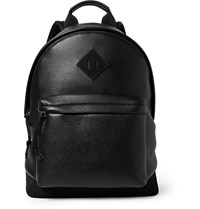 Tom Ford Suede Panelled Full Grain Leather Backpack Black