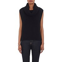 Barneys New York Women's Cowl Neck Sleeveless Sweater Black Blue Black Blue