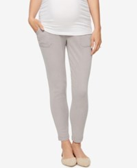 A Pea In The Pod Maternity Twill Skinny Leg Pants Gray