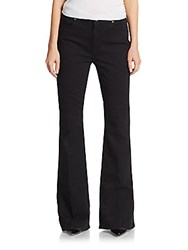 Paige High Rise Flare Jeans Black Overdye