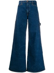 Aries Flared Style Jeans Blue