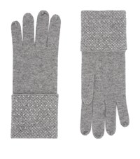 William Sharp Cashmere Embellished Gloves Grey