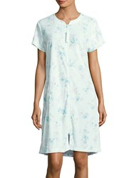 Miss Elaine Floral Print Nightgown Green