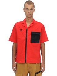 Nike Nrg Acg Nylon Blend Shirt Habanero Red