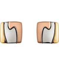 Georg Jensen 18Ct Yellow White And Red Gold Fusion Earrings White And Red Gold
