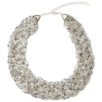 John Lewis Seed Bead Collar Necklace Gold Multi
