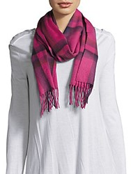 Saks Fifth Avenue Cashmere Fringe Trim Scarf Grey