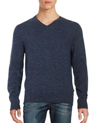 Nautica Marled V Neck Sweater Class Navy