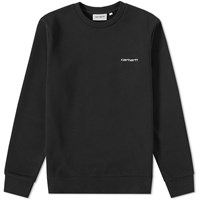 Carhartt Script Embroidery Sweat Black