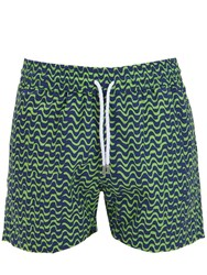 Frescobol Carioca Bossa Sports Nylon Swim Shorts Green Navy