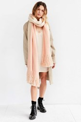 Urban Outfitters Extra Large Cozy Fringe Scarf Pink