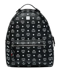 Mcm Stark Logo Visetos Backpack Black
