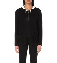 Claudie Pierlot Miami Cotton Cardigan Noir