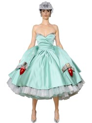 Moschino Cadillac Duchesse Dress With Tail Lights