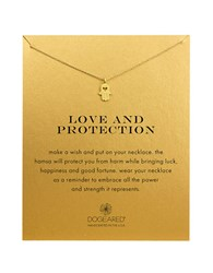 Dogeared Love And Protection 14K Gold Dipped Hamsa Necklace