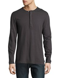 French Connection Long Sleeve Henley Grey