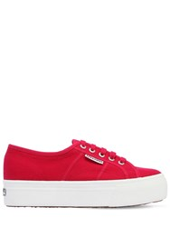 Superga 40Mm Canvas Platform Sneakers Red