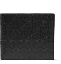 Givenchy Star Embossed Leather Billfold Wallet Black