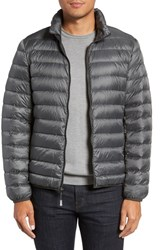 Tumi Men's 'Pax' Packable Quilted Jacket Slate Grey